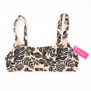 NWT Tropical Palm Print Bikini Top L 8-10